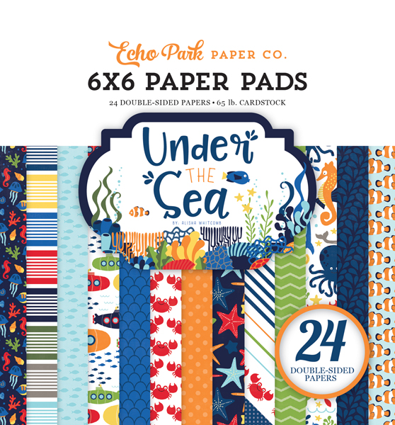 US131023 Under the Sea 6x6 Paper Pad
