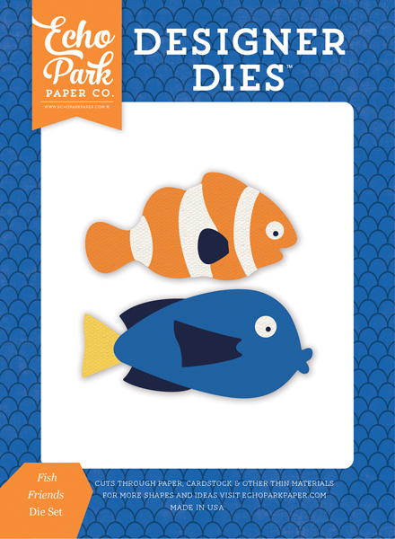 US131040 Fish Friends <br>Die Set