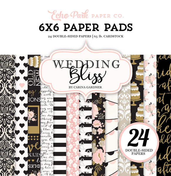 WB129015 Wedding Bliss 6x6 Paper Pad