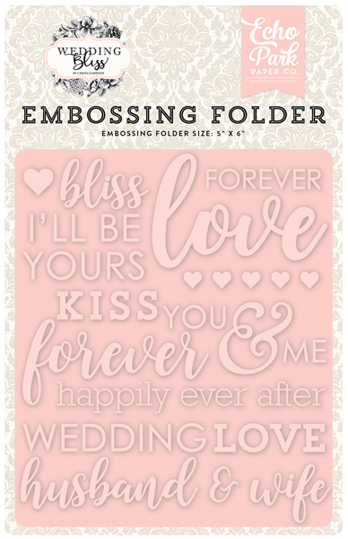 WB129032 Embossing Folder - Forever Love