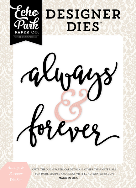 WB129041 Always & Forever Word <br>Die Set