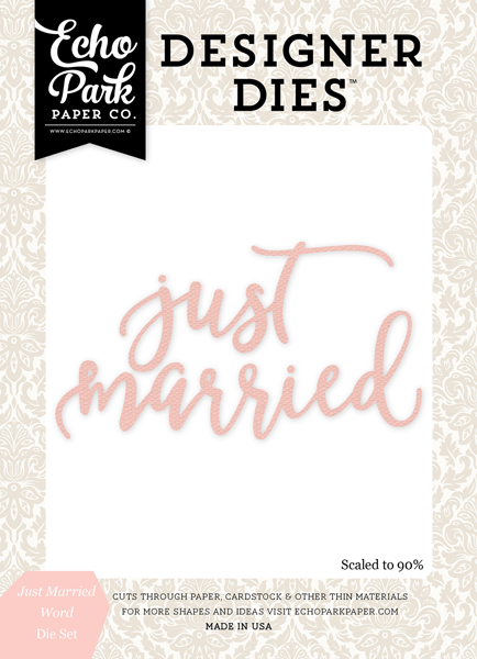 WB129043 Just Marrie Word <br>Die Set