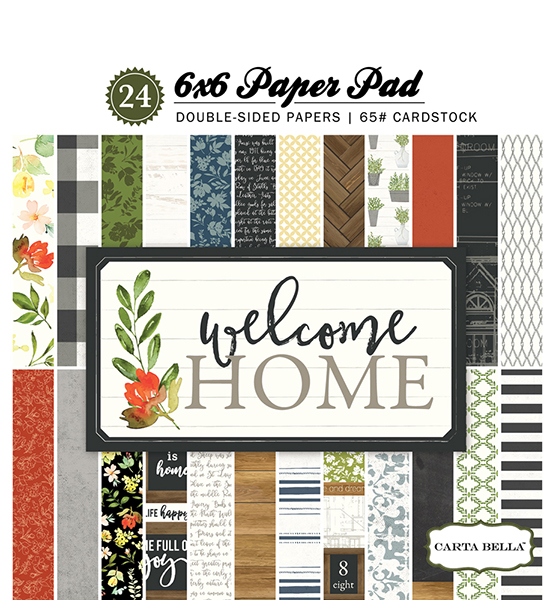CBWHO74015 Welcome Home 6x6 Paper Pad