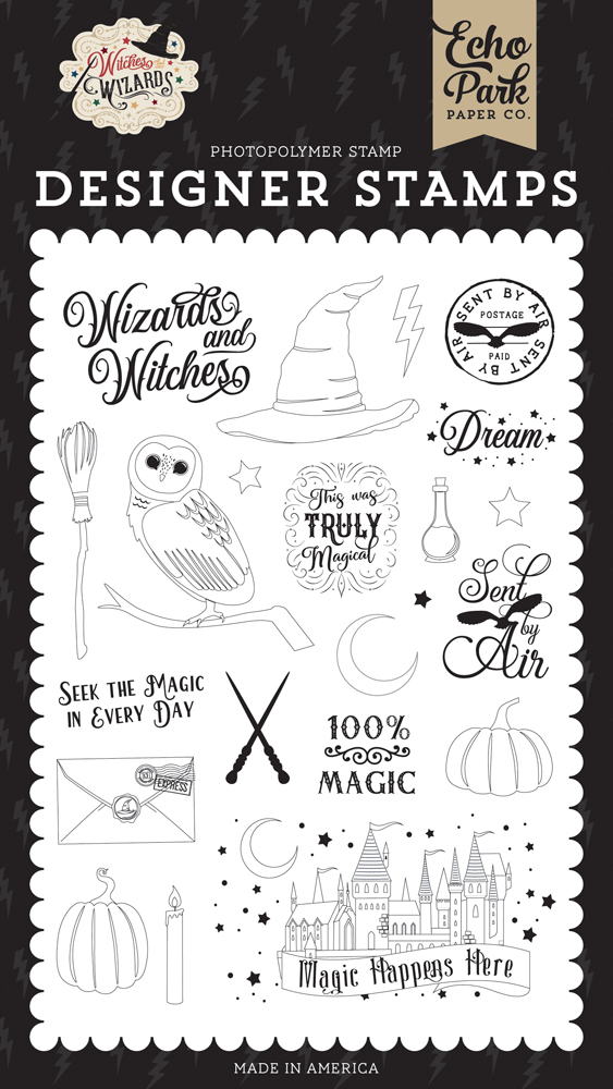 Echo Park Stamps-Wizard At Heart Witches /& Wizards