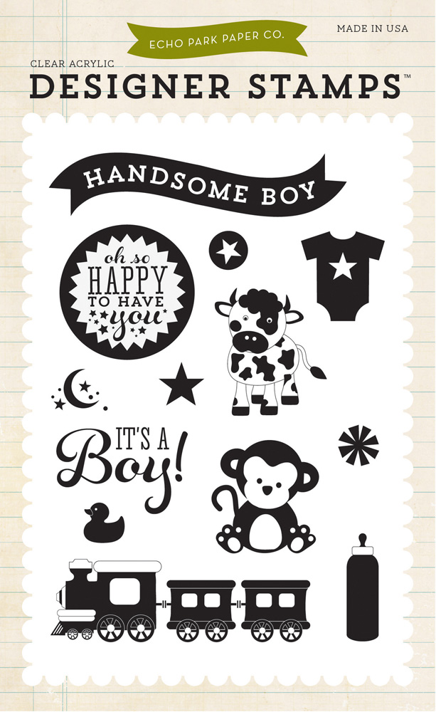 its a boy stamp