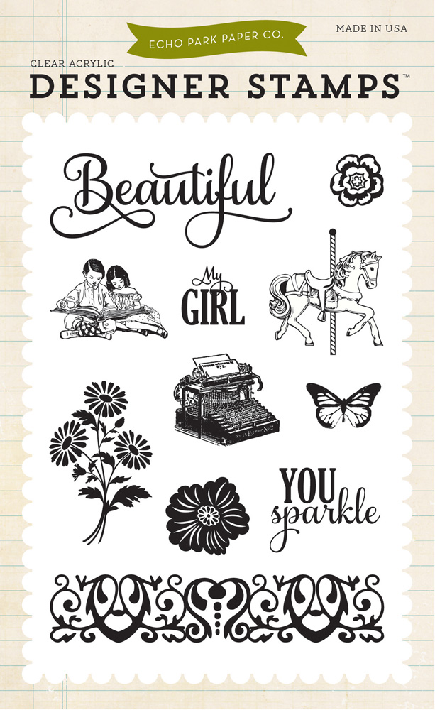 JJG81034 Beautiful Girl 4X6 Stamp