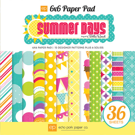 Summer Days 6x6 Paper Pad