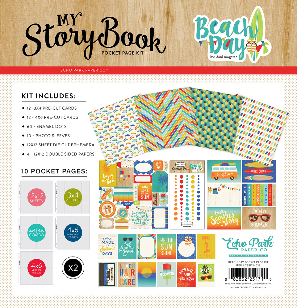 CBBD54039 Beach Day Pocket Page Kit