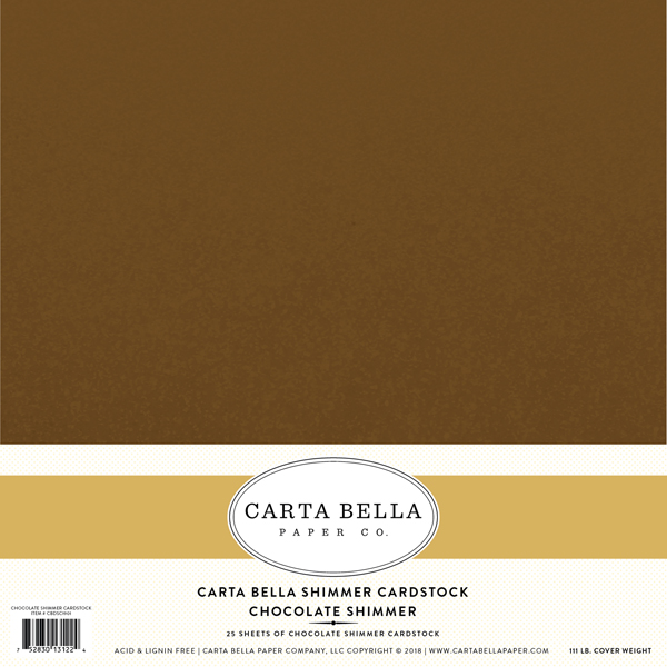 Chocolate Shimmer 111 lb Cardstock