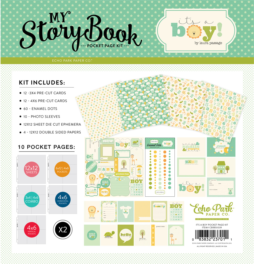 CBIB50039 It's A Boy Pocket Page Kit