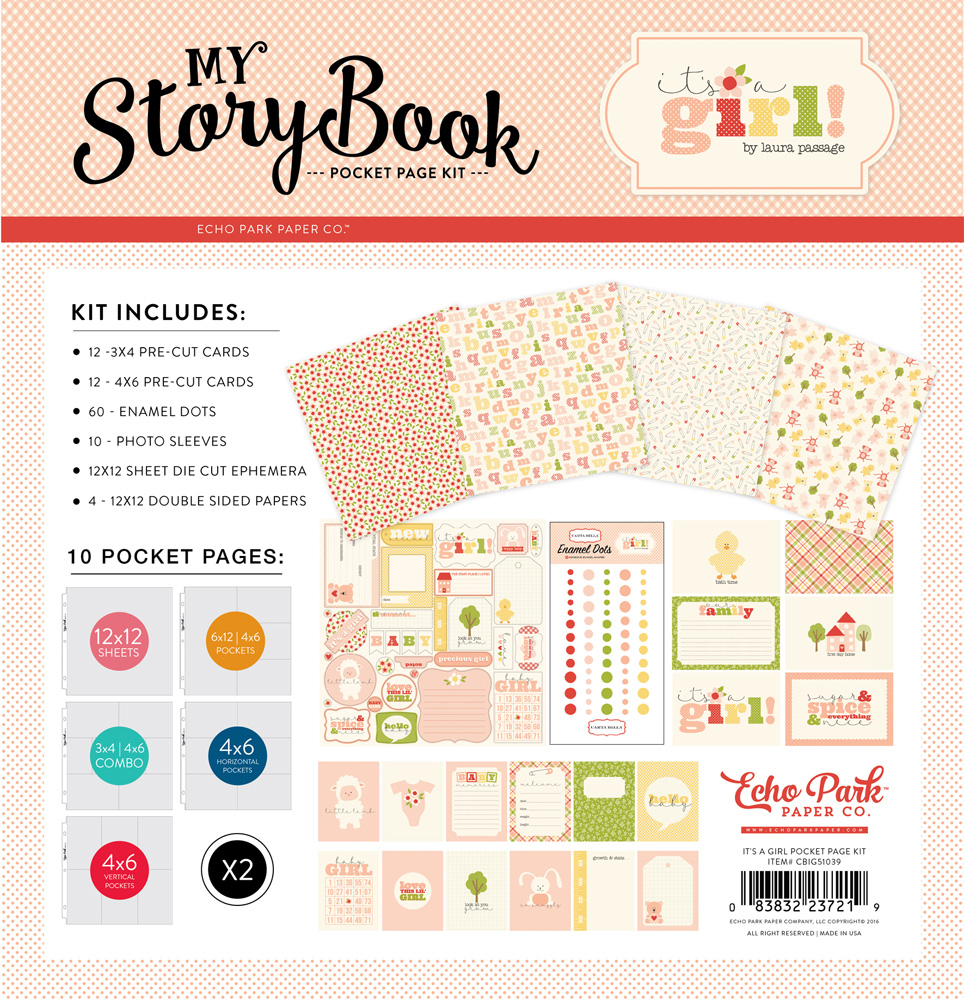 CBIG51039 It's a girl Pocket Page Kit
