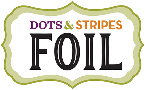 Dots Stripes Foil Black