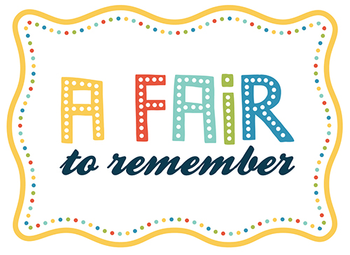 A Fair to Remember scrapbook paper