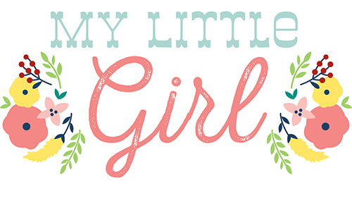 My Little Girl scrapbook paper